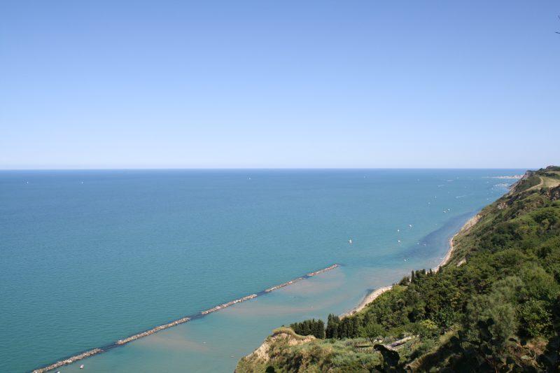 From Fiorenzuola di Focara towards Pesaro