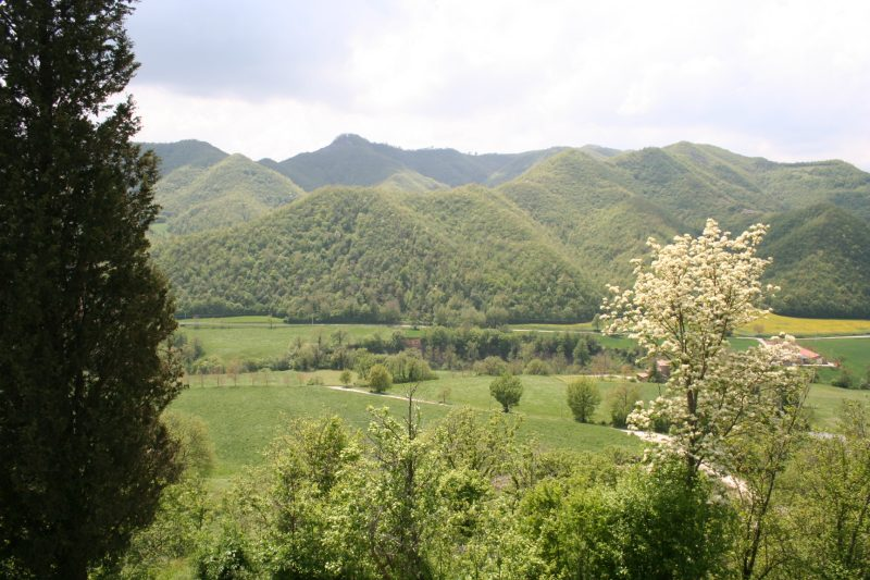 Metauro valley from Castello della Pieve